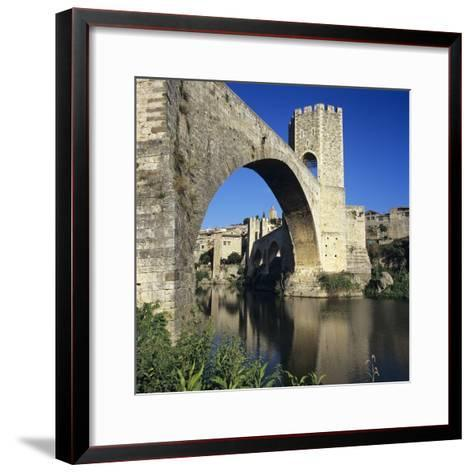 Medieval Bridge, Besalu, Catalunya (Costa Brava), Spain-Stuart Black-Framed Art Print