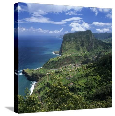 Eagle Rock (Penha De Aguia), Faial, Madeira, Portugal, Atlantic-Stuart Black-Stretched Canvas Print