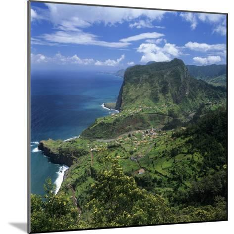 Eagle Rock (Penha De Aguia), Faial, Madeira, Portugal, Atlantic-Stuart Black-Mounted Photographic Print