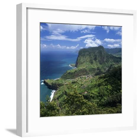 Eagle Rock (Penha De Aguia), Faial, Madeira, Portugal, Atlantic-Stuart Black-Framed Art Print
