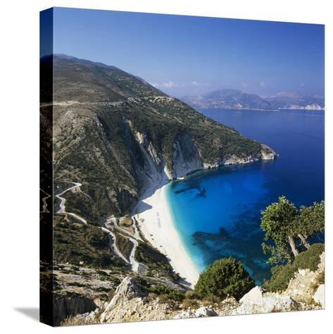 Myrtos Beach, North-West Coast, Kefalonia, Ionian Islands, Greek Islands, Greece-Stuart Black-Stretched Canvas Print