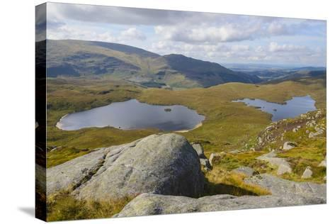 View over the Glenhead Lochs from Rig of the Jarkness-Gary Cook-Stretched Canvas Print