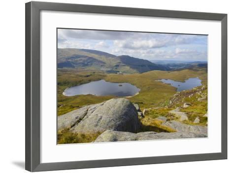 View over the Glenhead Lochs from Rig of the Jarkness-Gary Cook-Framed Art Print