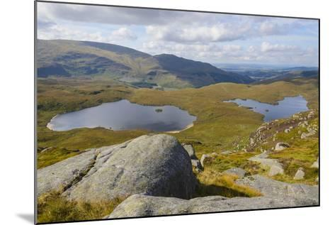 View over the Glenhead Lochs from Rig of the Jarkness-Gary Cook-Mounted Photographic Print