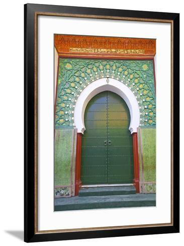 Entrance to Mosque, Tangier, Morocco, North Africa, Africa-Neil Farrin-Framed Art Print