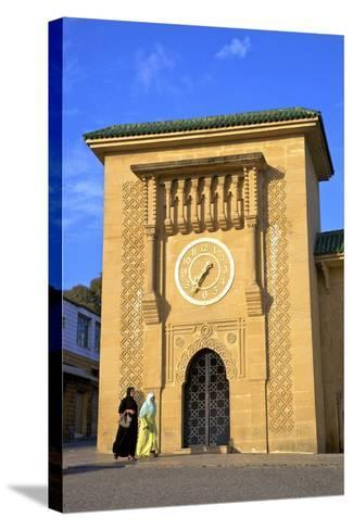Clock Tower in Grand Socco, Tangier, Morocco, North Africa, Africa-Neil Farrin-Stretched Canvas Print