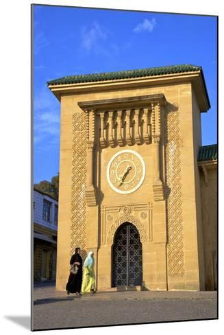 Clock Tower in Grand Socco, Tangier, Morocco, North Africa, Africa-Neil Farrin-Mounted Photographic Print