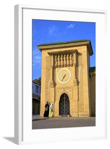 Clock Tower in Grand Socco, Tangier, Morocco, North Africa, Africa-Neil Farrin-Framed Art Print