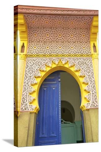 Entrance to Mosque, Tangier, Morocco, North Africa, Africa-Neil Farrin-Stretched Canvas Print
