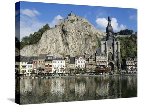 Citadel and Collegiate Church on River Meuse, Dinant, Wallonia, Belgium-Stuart Black-Stretched Canvas Print