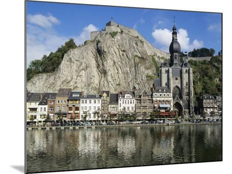 Citadel and Collegiate Church on River Meuse, Dinant, Wallonia, Belgium-Stuart Black-Mounted Photographic Print