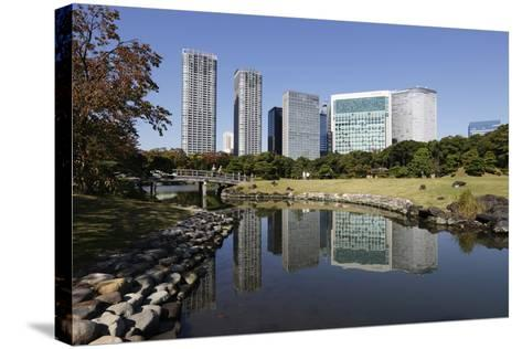 Hamarikyu Gardens, Chuo, Tokyo, Japan, Asia-Stuart Black-Stretched Canvas Print