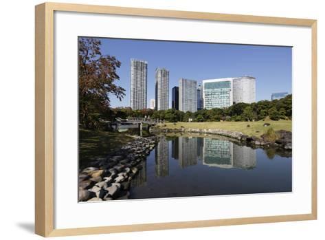 Hamarikyu Gardens, Chuo, Tokyo, Japan, Asia-Stuart Black-Framed Art Print
