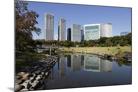 Hamarikyu Gardens, Chuo, Tokyo, Japan, Asia-Stuart Black-Mounted Photographic Print