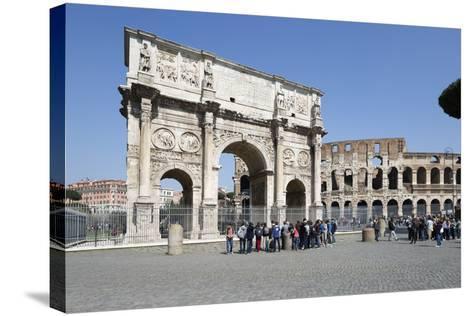 Arch of Constantine (Arco Di Costantino) and the Colosseum, Rome, Lazio, Italy-Stuart Black-Stretched Canvas Print