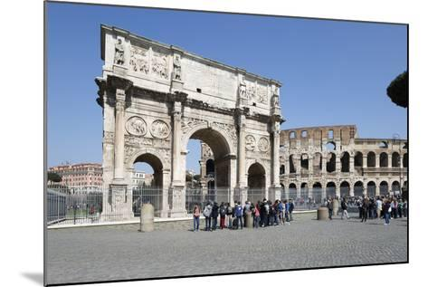 Arch of Constantine (Arco Di Costantino) and the Colosseum, Rome, Lazio, Italy-Stuart Black-Mounted Photographic Print