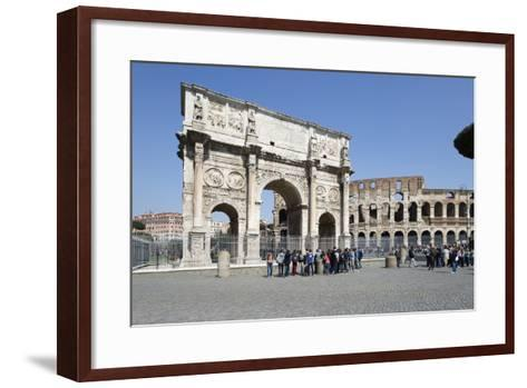Arch of Constantine (Arco Di Costantino) and the Colosseum, Rome, Lazio, Italy-Stuart Black-Framed Art Print
