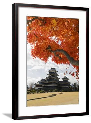 Matsumoto-Jo (Wooden Castle) in Autumn, Matsumoto, Central Honshu, Japan, Asia-Stuart Black-Framed Art Print