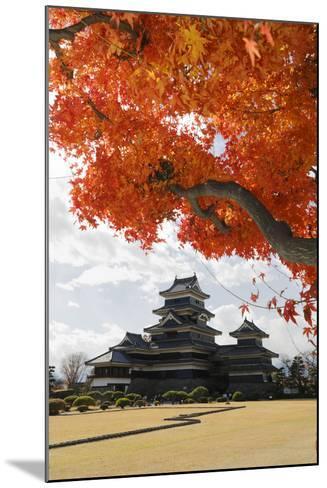 Matsumoto-Jo (Wooden Castle) in Autumn, Matsumoto, Central Honshu, Japan, Asia-Stuart Black-Mounted Photographic Print