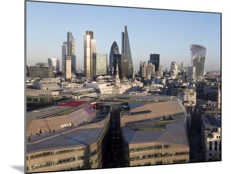 City Skyline from St. Pauls, London, England, United Kingdom-Charles Bowman-Mounted Photographic Print
