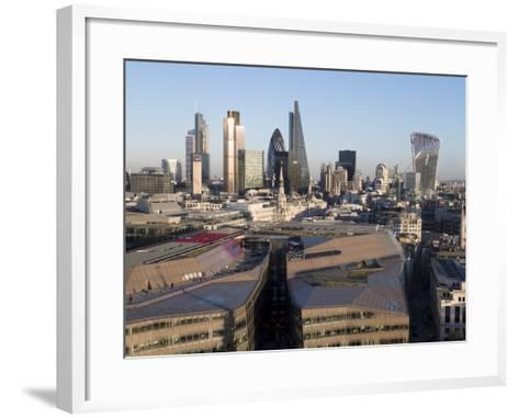City Skyline from St. Pauls, London, England, United Kingdom-Charles Bowman-Framed Art Print
