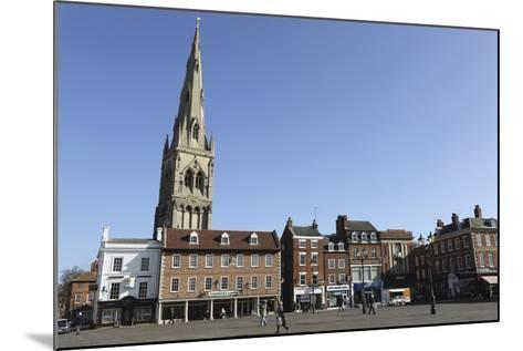 The Spire of St. Mary Magdalene Church Rises over Building on the Market Square-Stuart Forster-Mounted Photographic Print