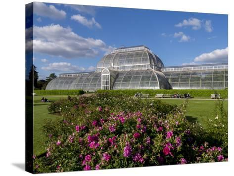 Palm House in Kew Gardens in Summer-Charles Bowman-Stretched Canvas Print