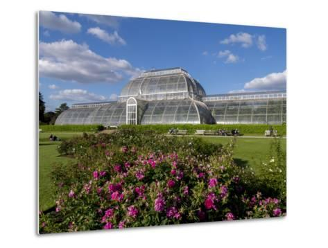 Palm House in Kew Gardens in Summer-Charles Bowman-Metal Print