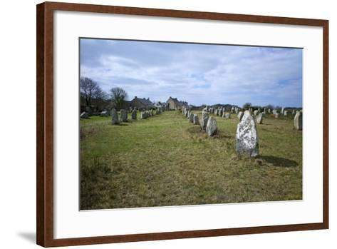 Megalithic Stones in the Menec Alignment at Carnac, Brittany, France, Europe-Rob Cousins-Framed Art Print