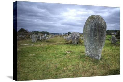 Megalithic Stones in the Menec Alignment at Carnac, Brittany, France, Europe-Rob Cousins-Stretched Canvas Print