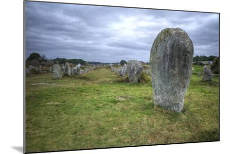 Megalithic Stones in the Menec Alignment at Carnac, Brittany, France, Europe-Rob Cousins-Mounted Photographic Print