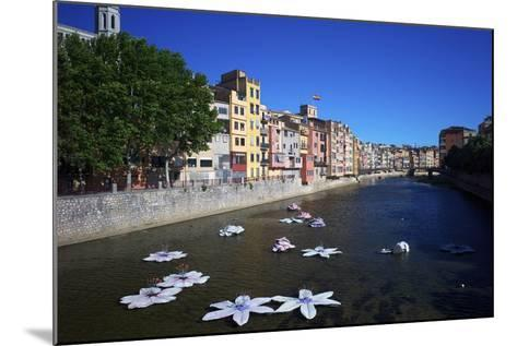 River Onyar During the Flower Festival, Girona, Catalonia, Spain-Rob Cousins-Mounted Photographic Print