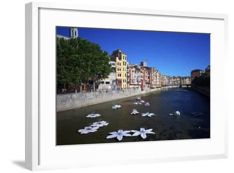 River Onyar During the Flower Festival, Girona, Catalonia, Spain-Rob Cousins-Framed Art Print