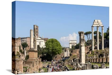 Roman Forum with Temple of Vesta-James Emmerson-Stretched Canvas Print