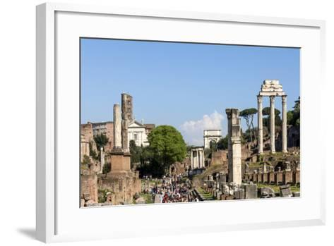Roman Forum with Temple of Vesta-James Emmerson-Framed Art Print