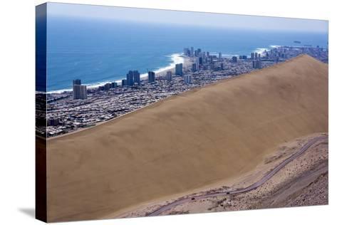 Iquique Town and Beach, Atacama Desert, Chile-Peter Groenendijk-Stretched Canvas Print