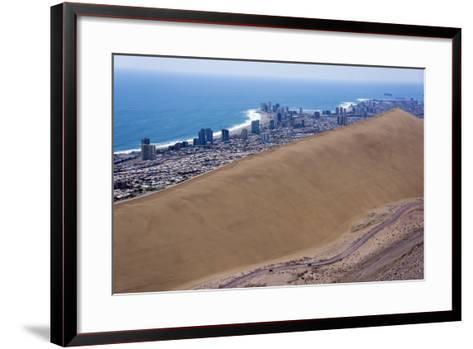 Iquique Town and Beach, Atacama Desert, Chile-Peter Groenendijk-Framed Art Print