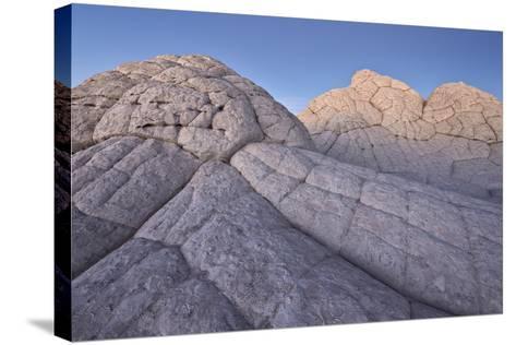 Brain Rock at Dusk, White Pocket, Vermilion Cliffs National Monument-James Hager-Stretched Canvas Print
