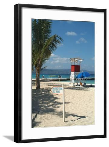 Doctor's Cave Beach, Montego Bay, Jamaica, West Indies, Caribbean, Central America-Ethel Davies-Framed Art Print