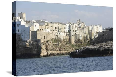 Clifftop Houses, Built onto Rocks, Forming the Harbour of Polignano a Mare-Stuart Forster-Stretched Canvas Print