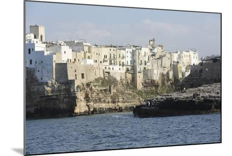 Clifftop Houses, Built onto Rocks, Forming the Harbour of Polignano a Mare-Stuart Forster-Mounted Photographic Print