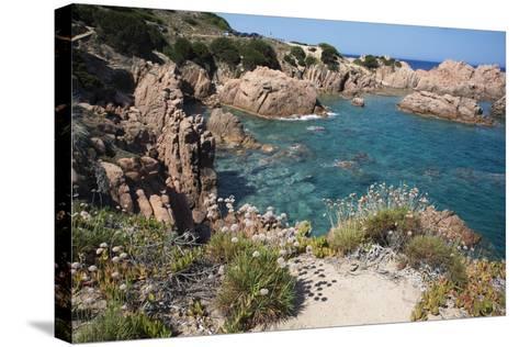 The Sea at Costa Paradiso, Sardinia, Italy, Mediterranean-Ethel Davies-Stretched Canvas Print