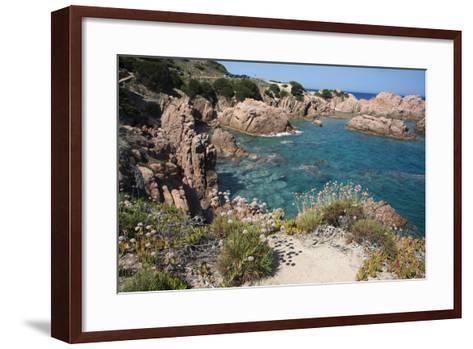 The Sea at Costa Paradiso, Sardinia, Italy, Mediterranean-Ethel Davies-Framed Art Print