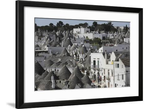 Cone-Roofed Trulli Houses on the Rione Monte District, Alberobello, Apulia, Italy-Stuart Forster-Framed Art Print