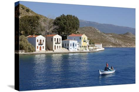 View of Harbour, Kastellorizo (Meis), Dodecanese, Greek Islands, Greece, Europe-Stuart Black-Stretched Canvas Print