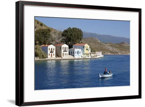 View of Harbour, Kastellorizo (Meis), Dodecanese, Greek Islands, Greece, Europe-Stuart Black-Framed Art Print