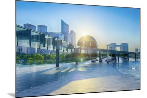 Brand New Skyscrapers and Modern Architecture in an Hdr Capture in Jianggan-Andreas Brandl-Mounted Photographic Print