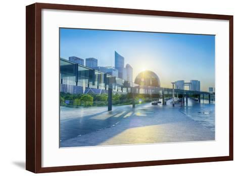 Brand New Skyscrapers and Modern Architecture in an Hdr Capture in Jianggan-Andreas Brandl-Framed Art Print