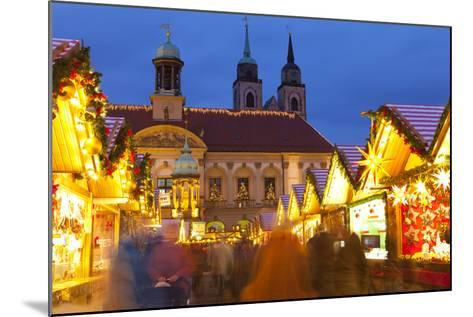 Christmas Market in the Altermarkt with the Baroque Town Hall in the Background-Miles Ertman-Mounted Photographic Print