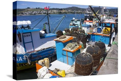 Tthe Fishing Harbour of Ancud, Island of Chiloe, Chile, South America-Peter Groenendijk-Stretched Canvas Print